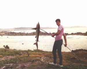 Curt Haney with 50lb Shark