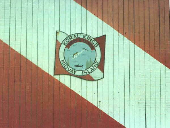 Koral Kings Dive Club Midway Island Sign