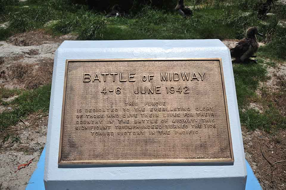 Battle of Midway Memorial Plaque